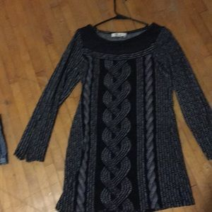 Women's size large black and grey dress.